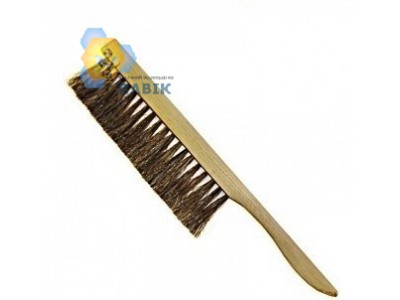 Natural single-row brush
