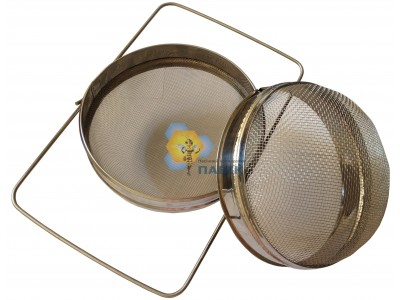 Sieve filter from two stainless steel parts